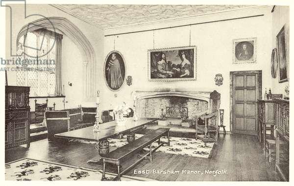 East Barsham Manor, Norfolk (b/w photo)