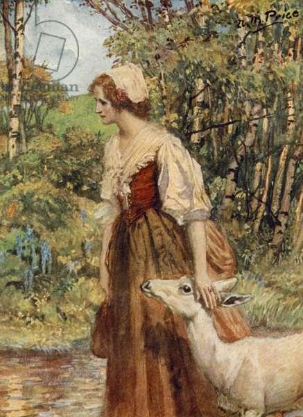 Tennyson, Lady Clare (colour litho)