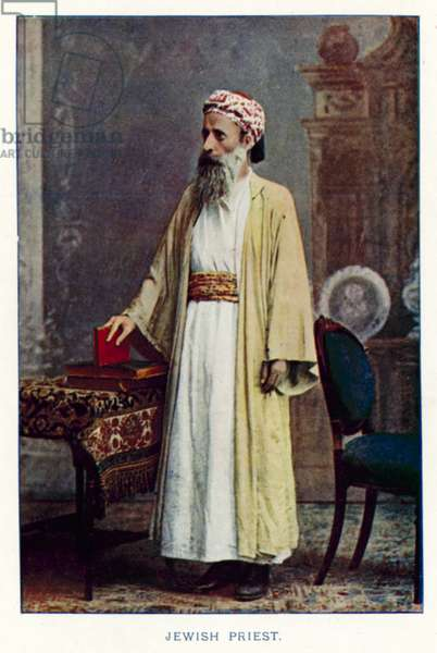 Indian Natives: Jewish Priest (coloured photo)