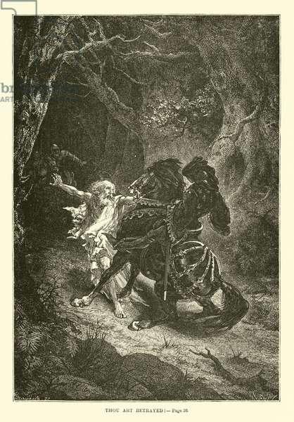 Thou art betrayed (engraving)