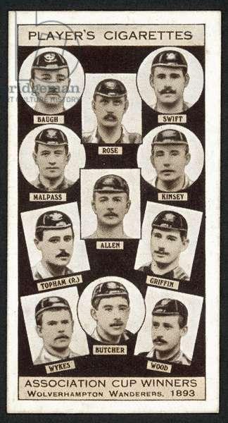 Association Cup Winners, Wolverhampton Wanderers, 1893 (litho)