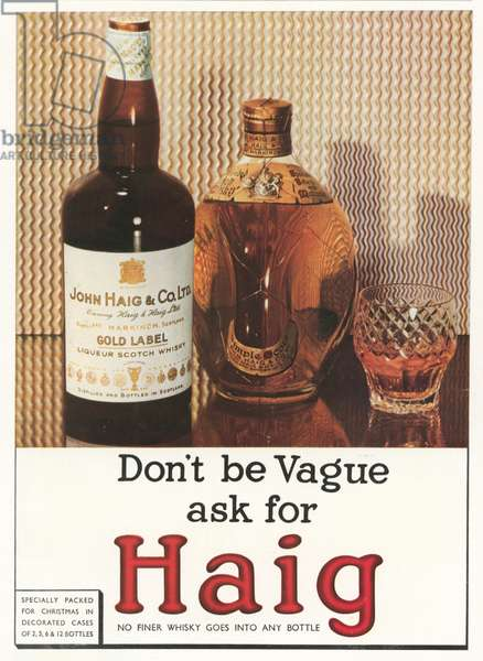 Christmas advertisement for Haig Scotch whisky (colour litho)