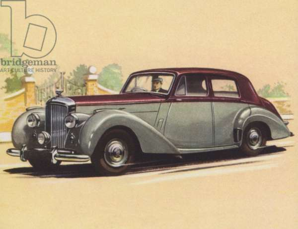 Britain, Bentley Sports Saloon (colour litho)