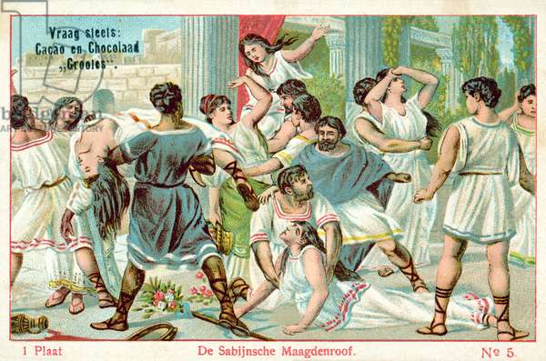 The rape of the Sabine women (chromolitho)