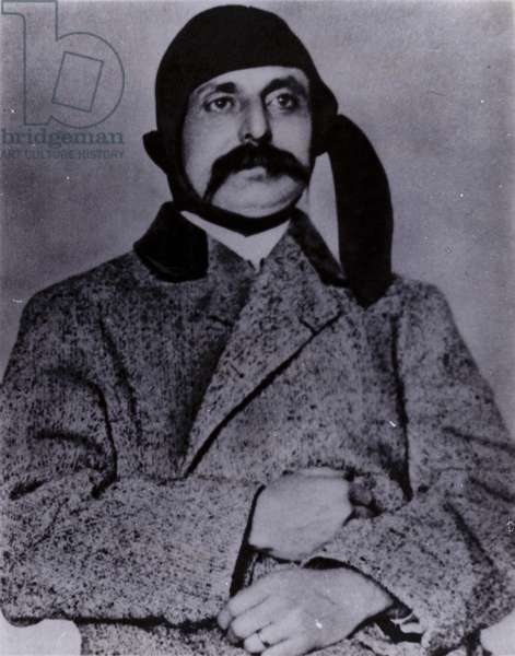 Louis Bleriot, French aviator who was the first to fly a powered aircraft across the English Channel (b/w photo)