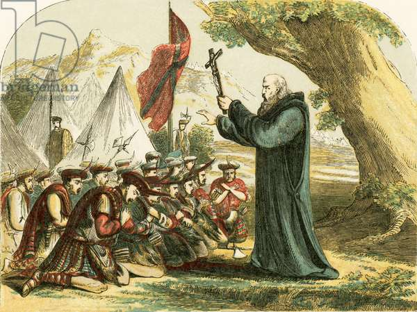 Blessing the Scottish soldiers before the battle of Bannockburn
