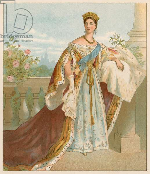 Her Majesty in her Coronation Robes (chromolitho)