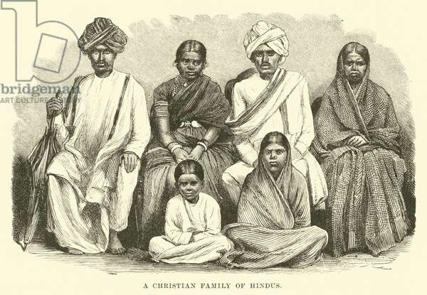 A Christian Family of Hindus (engraving)