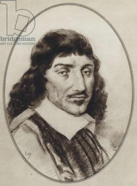 Portraits of Great Philosophers: Descartes (litho)