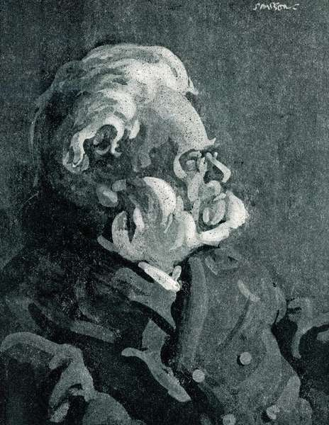 Ibsen in old age (litho)