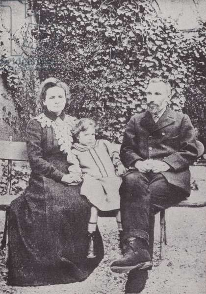Marie and Pierre Curie (b/w photo)