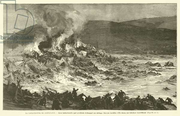 La Catastrophe De Johnstown (engraving)
