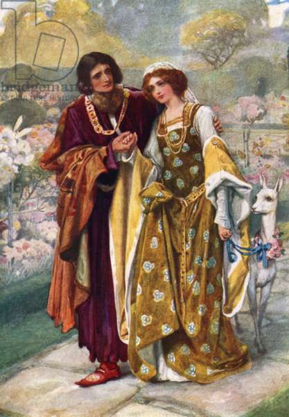 Lord Ronald and Lady Clare (colour litho)