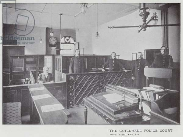 The Guildhall Police Court (b/w photo)