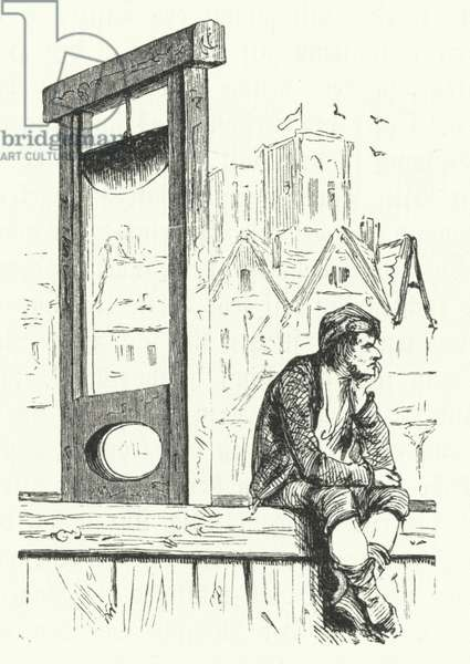 Guillotine, French Revolution (engraving)