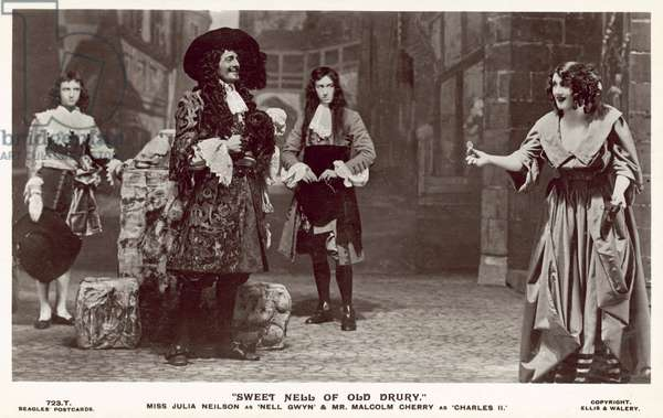 Scene from the play Sweet Nell of Old Drury by Paul Kester (b/w photo)