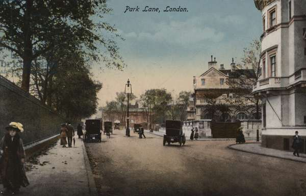 Park Lane, London (coloured photo)
