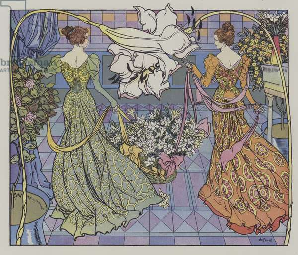 Festival of Lilies in the United States (colour litho)