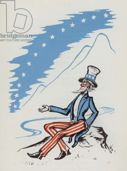 Uncle Sam (colour litho)