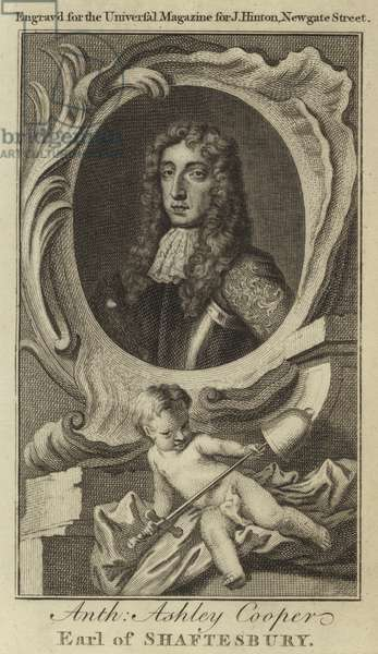 Anth: Ashley Cooper, Earl of Shaftesbury (engraving)