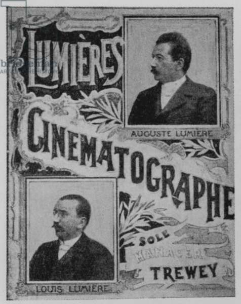 Cover of one of the Lumiere Brothers cinema programme (b/w photo)