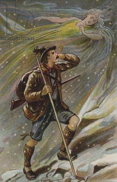 The Ice Maiden (chromolitho)