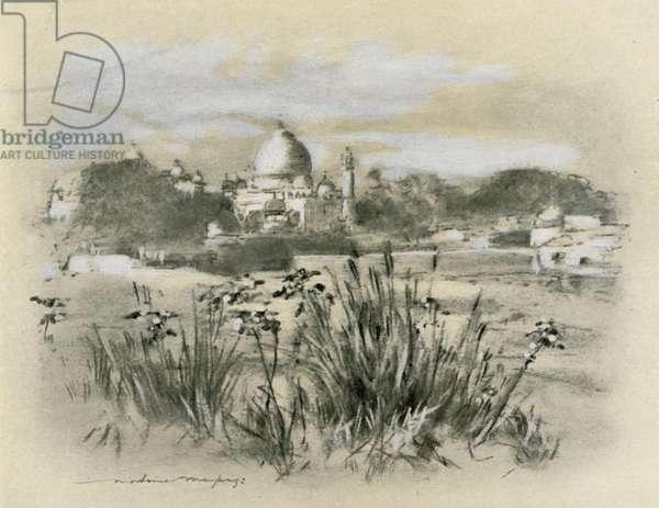 The Taj at Agra (colour litho)
