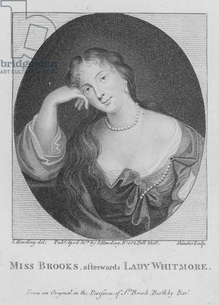 Miss Brooks, afterwards Lady Whitmore (engraving)