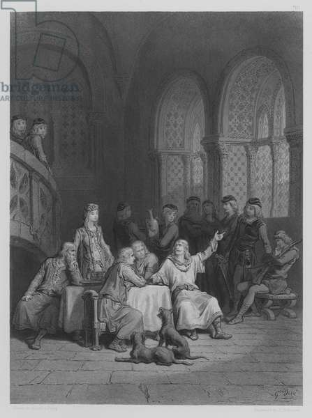 Lancelot relating his Adventures (engraving)