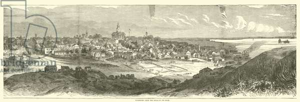 Vicksburg from the hills in its rear, May 1863 (engraving)