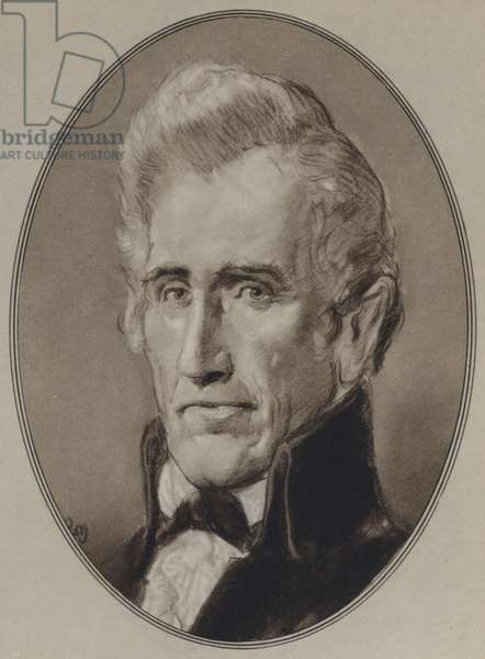 Portraits of American Statesmen: Andrew Jackson (litho)