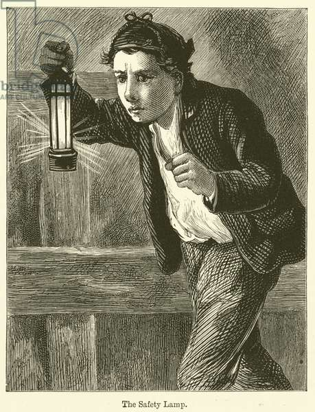 The Safety Lamp (engraving)
