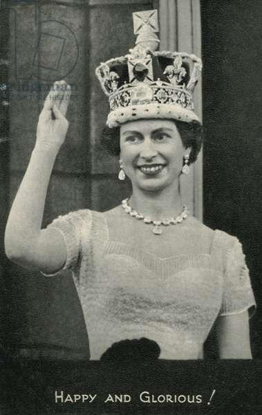 Queen Elizabeth II (b/w photo)