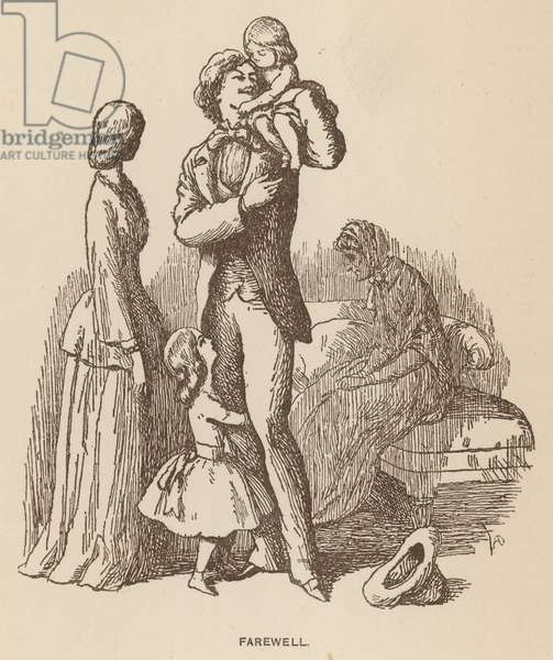Illustration for The Newcomes by Thackeray (litho)