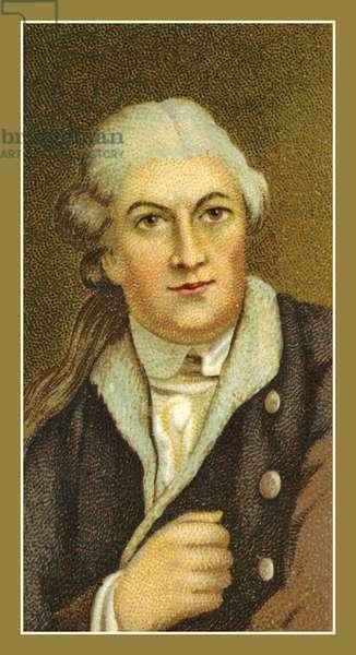 David Garrick, 1716-1779, by Robert Edge Pine (colour litho)