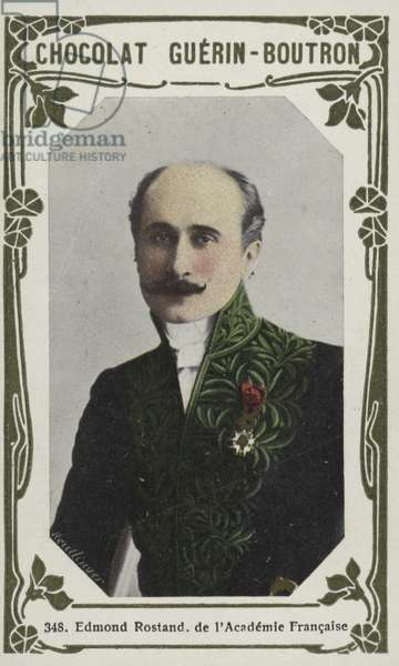 Edmond Rostand, de l'Academie Francaise (coloured photo)
