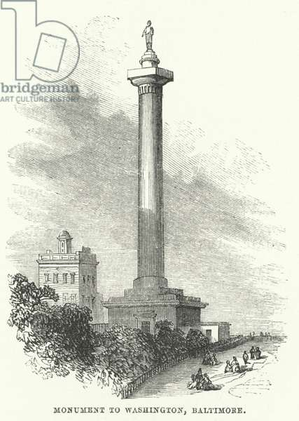 Monument to Washington, Baltimore (engraving)