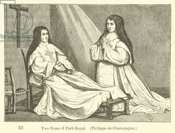 Two Nuns of Port-Royal, Philippe de Champagne (engraving)