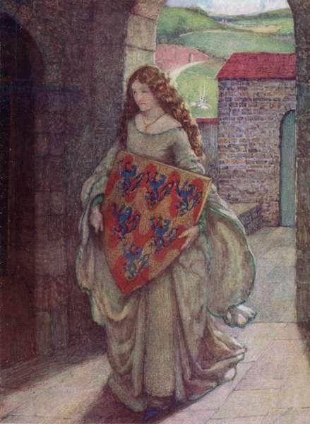Elaine (colour litho)