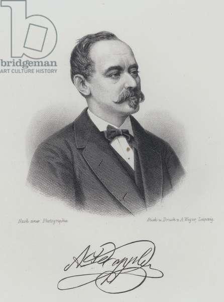 Franz Doppler, Austrian flautist and composer (engraving)