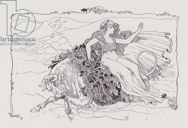 Europa and the Bull (litho)