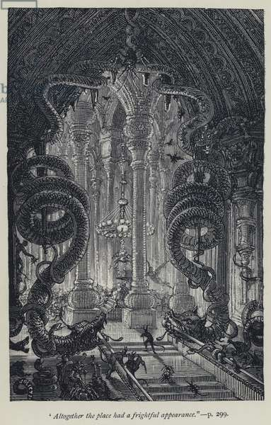 """""""Altogether the place had a frightful appearance"""" (engraving)"""