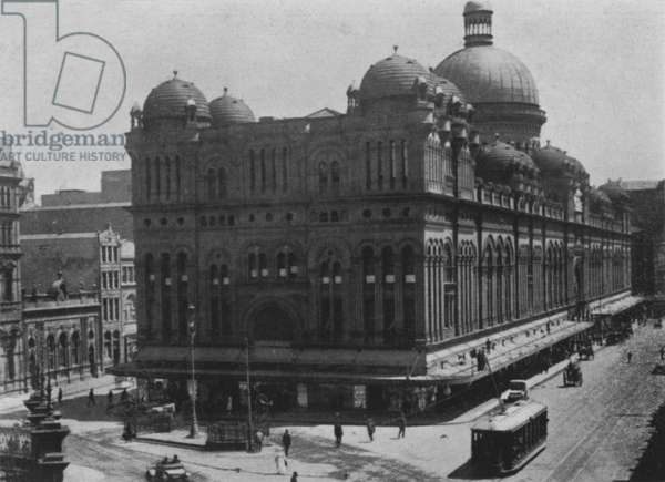 Sydney: Queen Victoria Markets, George Street (b/w photo)