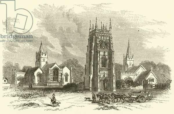 Evesham Abbey (engraving)