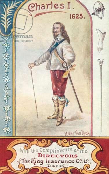 King Charles I (colour litho)