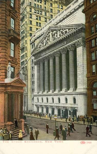 New York Stock Exchange, Wall Street, New York City, USA (colour photo)