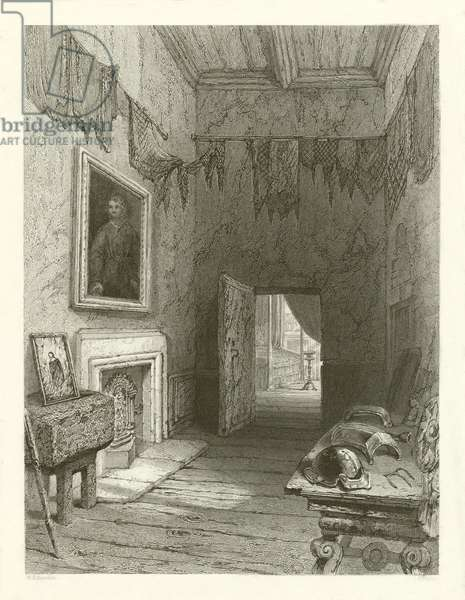 Queen Mary's closet, Holyrood (engraving)