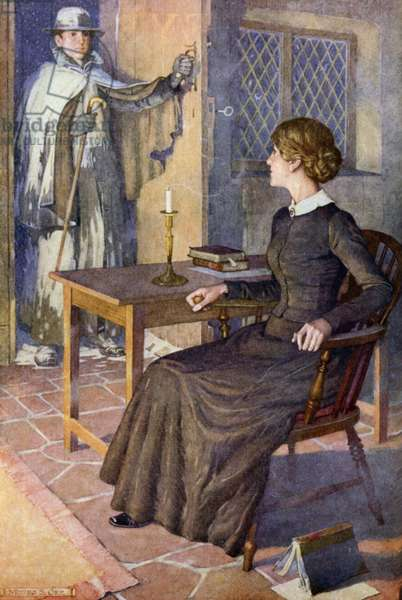 Illustration for Jane Eyre (colour litho)