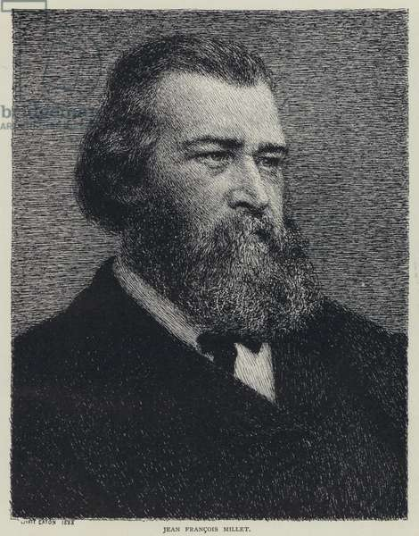 Jean Francois Millet, French painter (litho)
