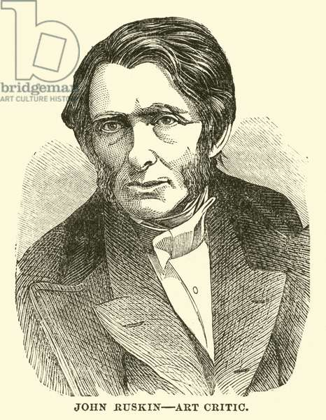 John Ruskin, Art Critic (engraving)